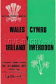 Wales v Ireland 1977 rugby  Programmes