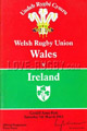 Wales v Ireland 1983 rugby  Programme