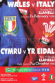Wales v Italy 1998 rugby  Programme
