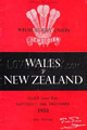 Wales v New Zealand 1953 rugby  Programmes