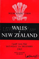 Wales v New Zealand 1963 rugby  Programmes