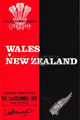 Wales - New Zealand rugby  Statistics