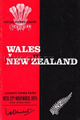 Wales v New Zealand 1974 rugby  Programmes