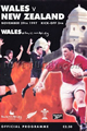 Wales v New Zealand 1997 rugby  Programmes