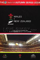 Wales v New Zealand 2004 rugby  Programme