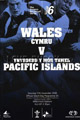 Wales v Pacific Islanders 2006 rugby  Programme