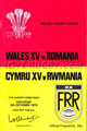 Wales v Romania 1979 rugby  Programmes