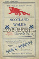 Wales v Scotland 1921 rugby  Programmes