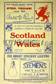 Wales v Scotland 1929 rugby  Programmes