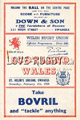 Wales v Scotland 1950 rugby  Programme