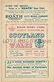 Wales v Scotland 1952 rugby  Programme