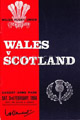 Wales v Scotland 1968 rugby  Programmes
