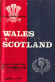 Wales v Scotland 1976 rugby  Programmes