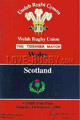 Wales v Scotland 1986 rugby  Programmes