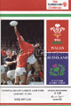 Wales v Scotland 1994 rugby  Programmes