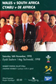 Wales v South Africa 1998 rugby  Programme