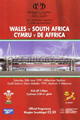 Wales v South Africa 1999 rugby  Programme