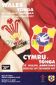 Wales v Tonga 1997 rugby  Programmes