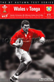 Wales v Tonga 2001 rugby  Programme