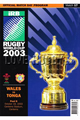 Wales v Tonga 2003 rugby  Programmes